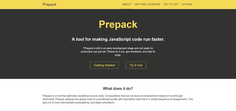 Prepack — The Latest Big Thing in JavaScript