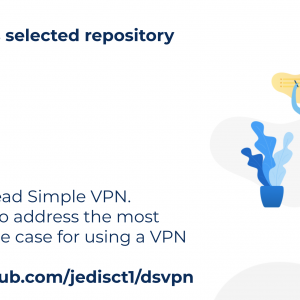 DSVPN is a Dead Simple VPN, designed to address the most common use case for using a VPN