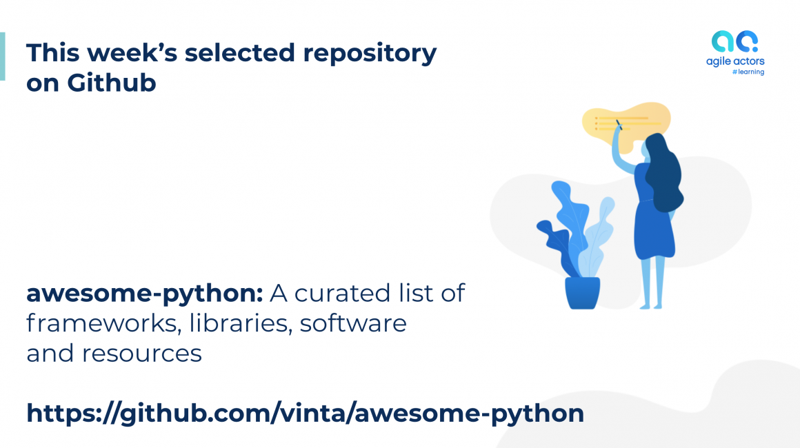 Awesome Python: A curated list of awesome Python frameworks, libraries, software and resources